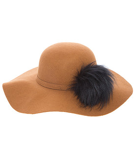 "Deep Tan ""PomPom"" Hat"
