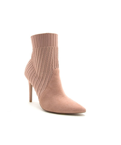 Blush Pink Knit Booties
