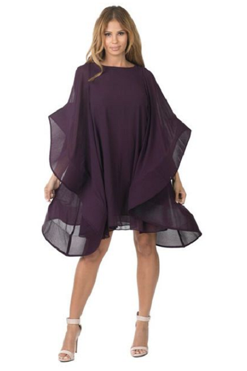 Eggplant Colored Loose Ruffle Dress/Top