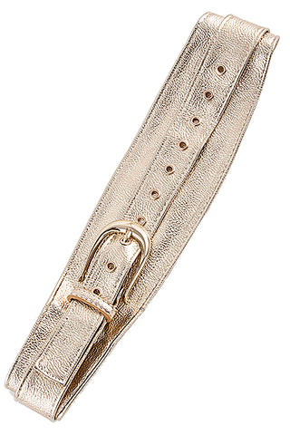 Faux Gold Overlapping Belt