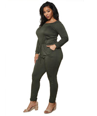 Olive Green Jumpsuit Curvy7
