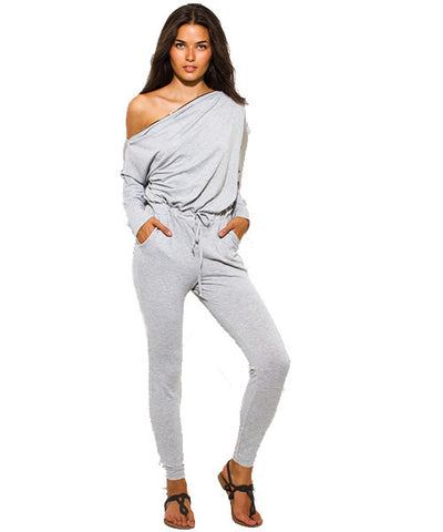 Heather Gray Zipper Jumpsuit