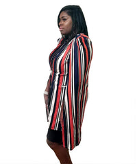 Orange and Blue Stripe Vest Cape Curvy7