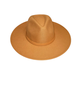 Camel Large Wide Brim Hat