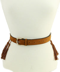 Tan Tassle Belt