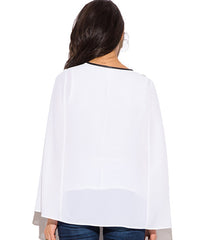 White and Black Accent Cape