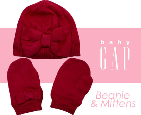 Gap Baby Girls Beanie & Mitten Set - Pink (Click to select size)