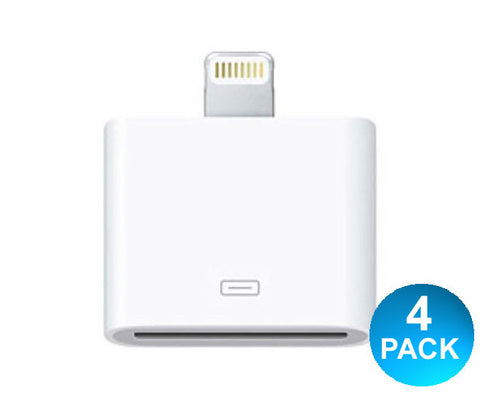 Voomie 30-Pin Adapter for iPhone/iPad Mini/ iPod Touch 5 - Multisaver 4 pk