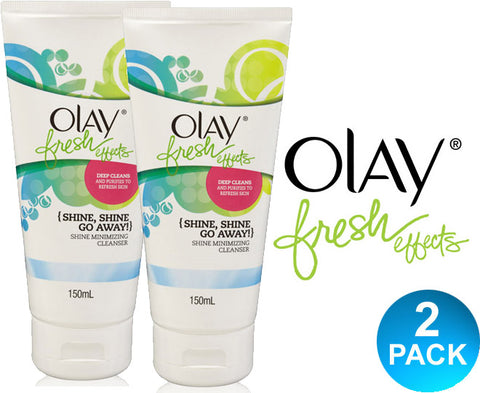 Olay Fresh Effects Shine Minimising Cleanser 150ml - Multi-Saver 2 Pack