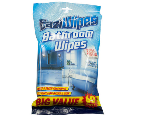 EaziWipes Bathroom Extra Strong Wipes 60 Pack