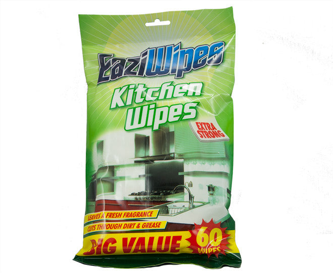 EaziWipes Kitchen Extra Strong Wipes 60 Pack