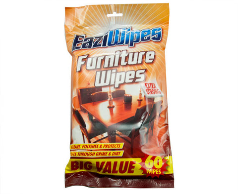 EaziWipes Furniture Extra Strong Wipes 60 Pack