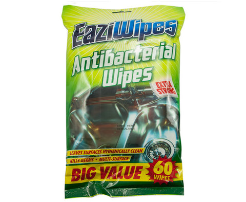 EaziWipes Multi Surface Antibacterial Extra Strong Wipes 60 Pack