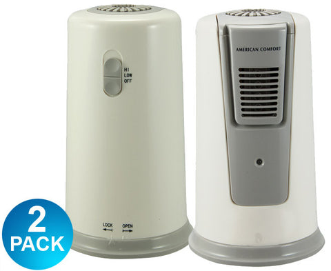 American Comfort XJ-100 Refrigerator Air Purifier Ionizer Multi-Saver 2 Pack