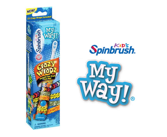 Kids Spinbrush My Way Powered Toothbrush For Boys