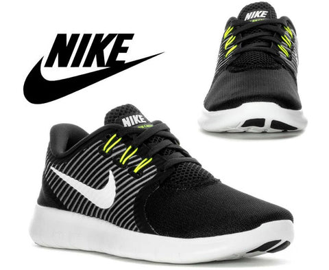Nike Womens Free Run Commuter Running Shoes - Black/Off White/Dark Grey/Volt (Click to select size)