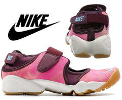 Nike Womens Air Rift PRM QS Running Shoes - Merlot/Summit White/Omega Blue (Click to select size)