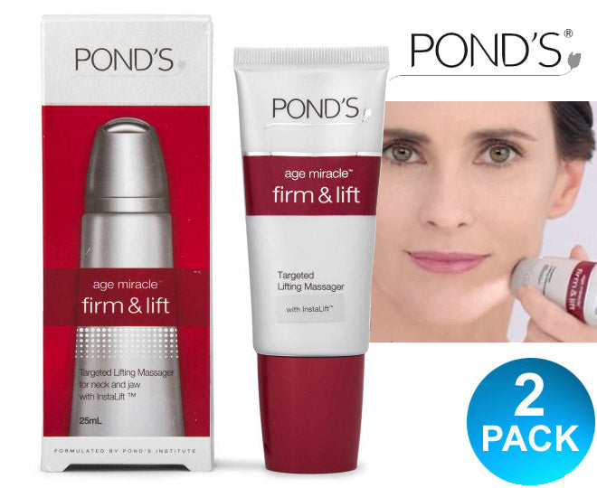 Ponds Firm & Lift Age Miracle Gel Roll Massager For Neck And Jaw 25ml - Multi-Saver 2 Pack
