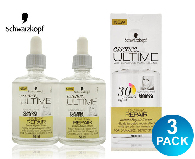 Schwarzkopf Essence Ultime Instant Repair Serum Omega Repair - 50ml - Multisaver 3 Pack