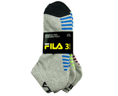 Fila Mens Cushion Support Sports Sock 3 Pack (Click to select size)