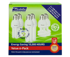 Mirabella Energy Saver Light Bulbs Value 6Pk Multi-Saver 2 Pack
