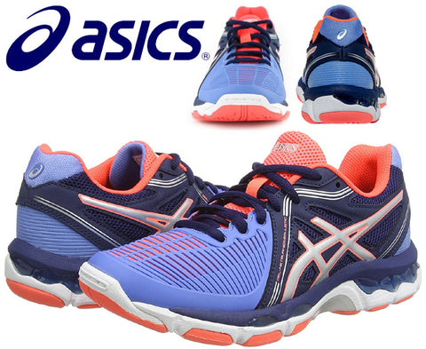 Asics Womens Gel-Netburner Ballistic Columbia Netball Shoes - Blue/Silver/Navy (Click to select size)