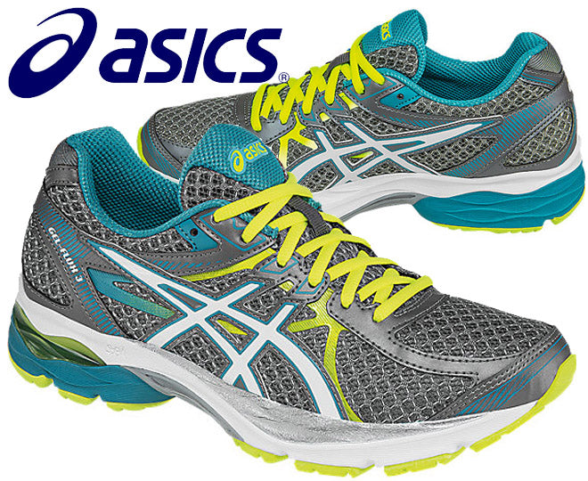 Asics Womens Gel-Flux 3 Running Shoes - Titanium/White/Enamel Blue (Click to select size)