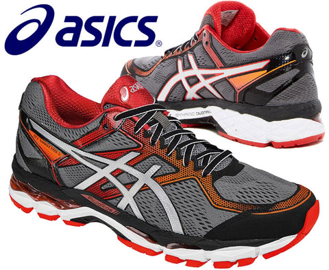 Asics Mens Gel-Surveyor 5 Running Shoes - Black/Silver/Vermilion (Click to select size)