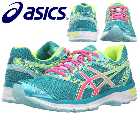 Asics Womens Gel-Excite 4 Running Shoes - Lapis/Hot Pink/Safety Yellow (Click to select size)