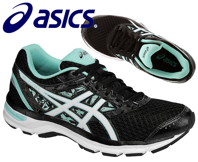 Asics Womens Gel-Excite 4 Running Shoes - Black/White/Mint (Click to select size)