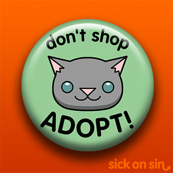 Don't Shop Adopt Cat Design