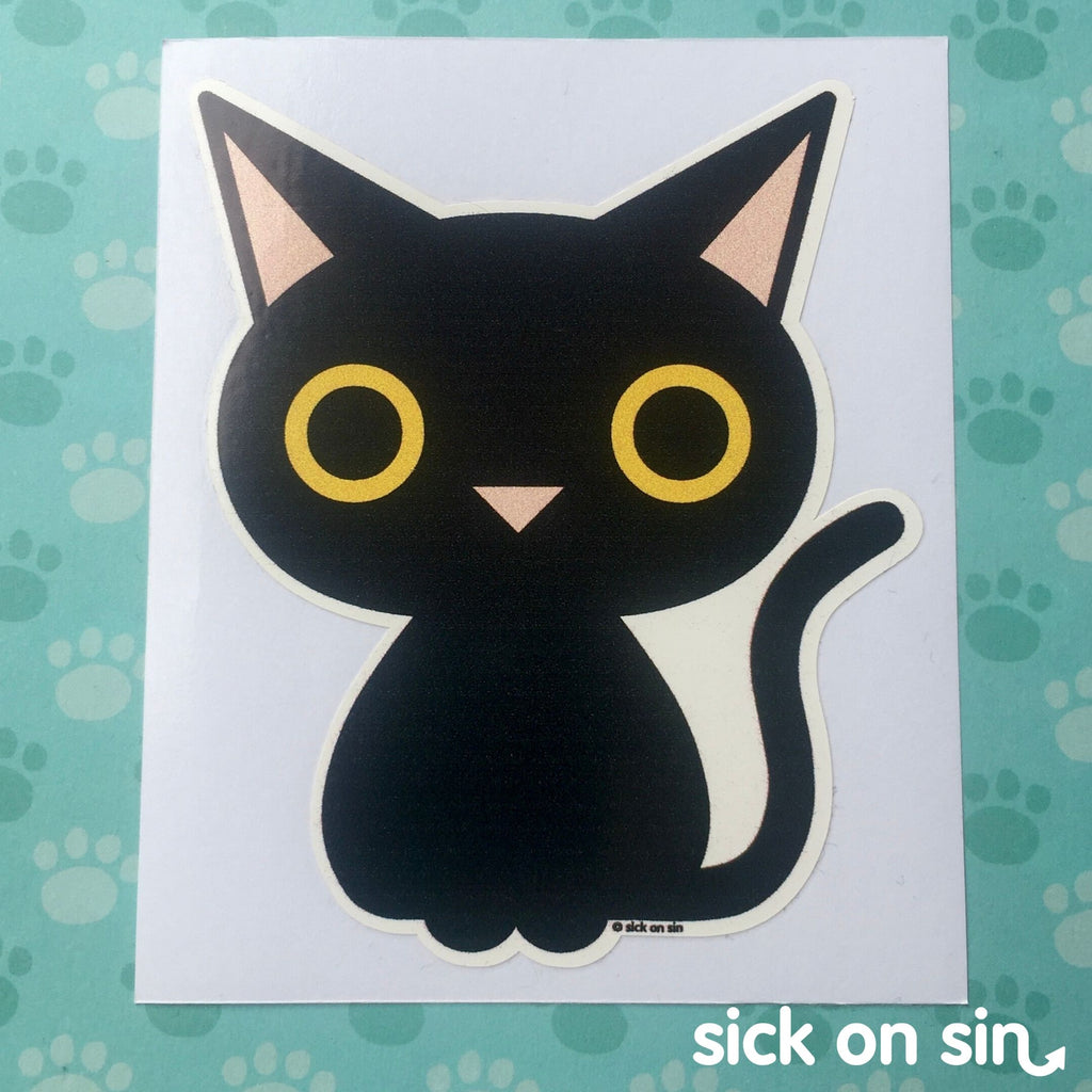 Black Cat - Vinyl Sticker *ALMOST GONE!*