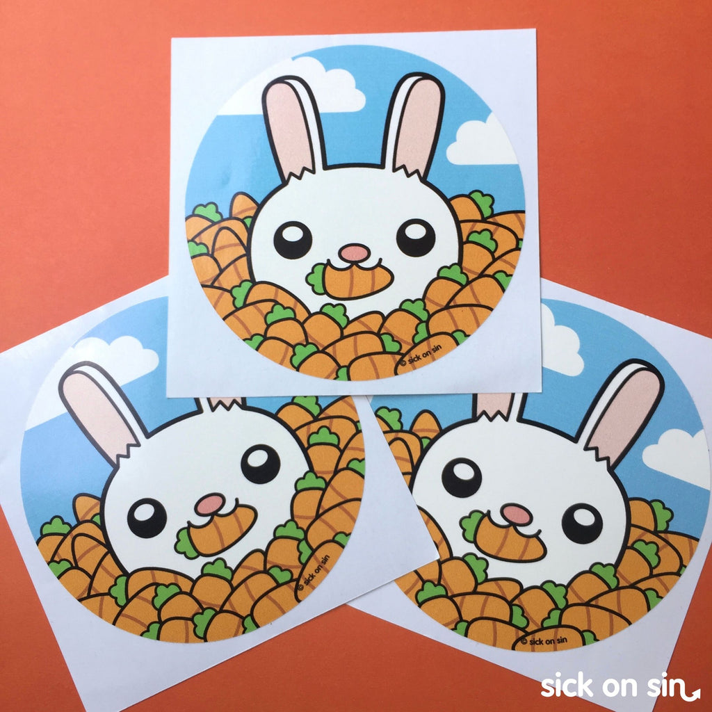Cutesy Bunny - Vinyl Sticker (Large) **ALMOST GONE**