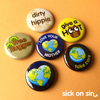 Earth Lover - Button / Magnet Set