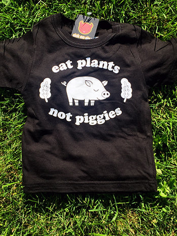 Eat Plants Not Piggies - Kid Tee