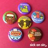 Good Vibes Only - Button / Magnet Set
