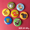 Forest Friends - Button / Magnet Set