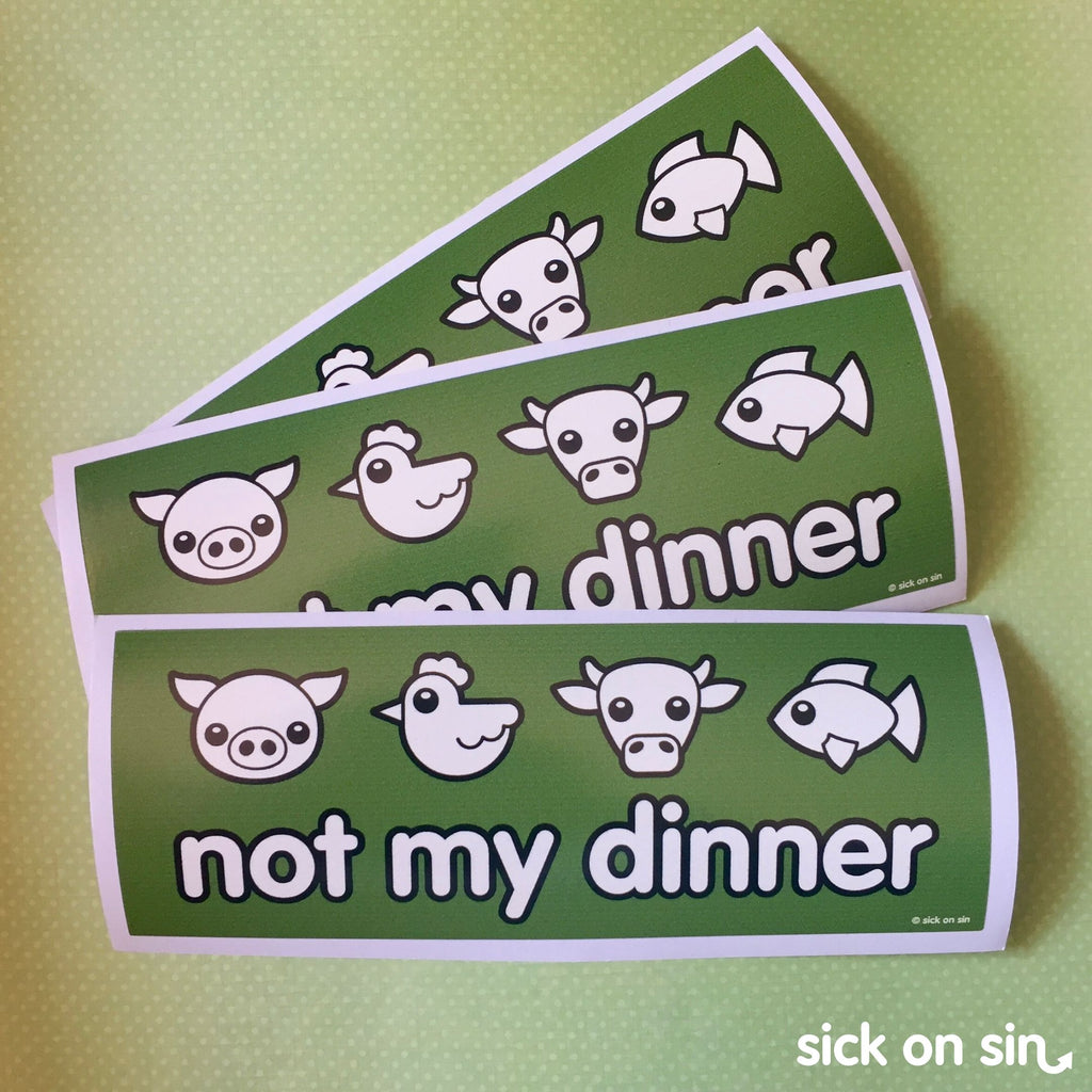 Not My Dinner: Four Animals - Vinyl Sticker (Large) **ALMOST GONE!**