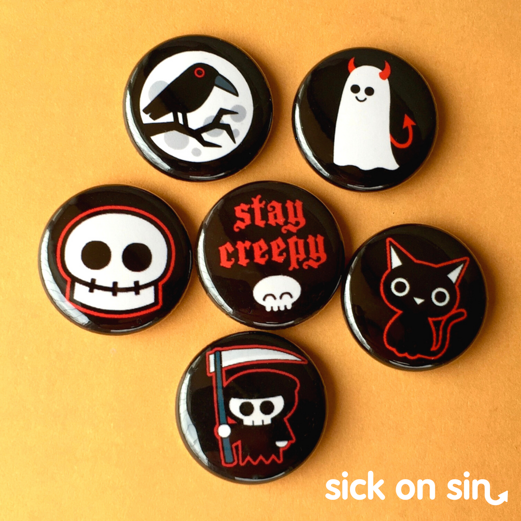 Stay Creepy - Button / Magnet Set