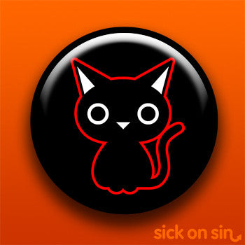 Black Cat (Red Outline) - Accessory