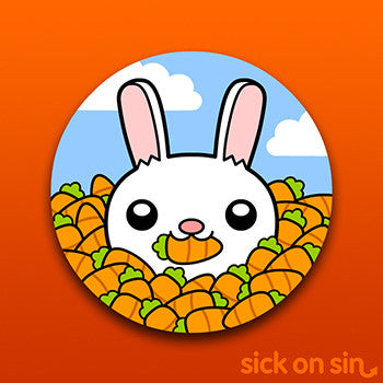 Cutesy Bunny - Vinyl Sticker