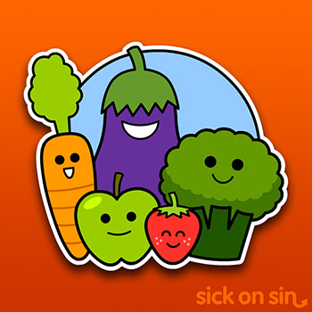 Fruit & Veg Gang - Vinyl Sticker