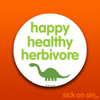 Healthy Happy Herbivore - Vinyl Sticker
