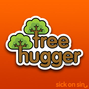 Tree Hugger - Vinyl Sticker