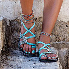 Greek Goddess Plaka Summer Sandals
