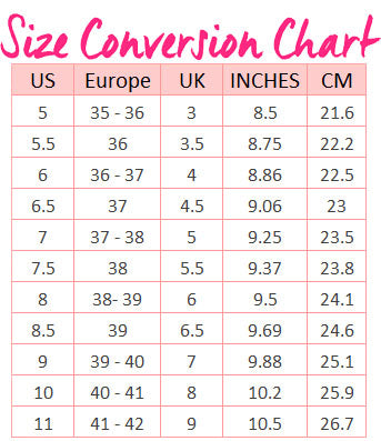 Us Shoe Size Chart Inches Dolap Magnetband Co