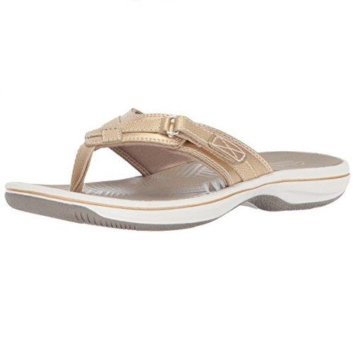 CLARKS Women's Breeze Sea Platform Gold Synthetic