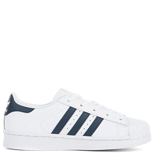 adidas Originals Women's Shoes Superstar Fashion Sneakers White/Collegiate Navy/Metallic/Gold
