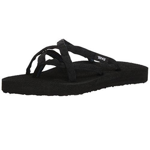 Teva Women's Olowahu Flip-Flop Mix Black On Black