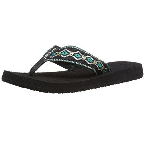 Reef Women's Sandy Sandal Black/Blue/Metallic